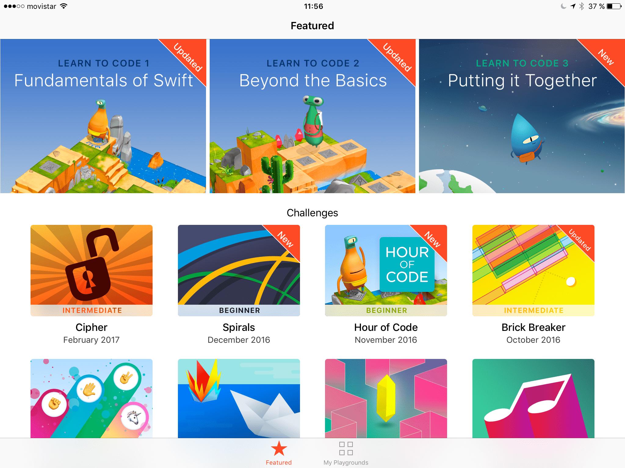 Estructura la mente mediante la programación, Swift Playgrounds ...