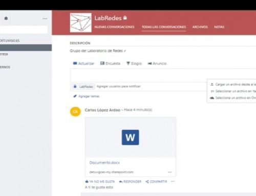 Usando entornos colaborativos para trabajo en grupos virtuales (y III): Yammer y las redes sociales privadas